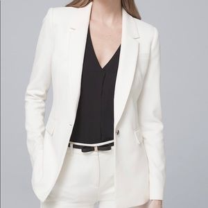 ✨NWOT White House Black Market white Luxe blazer